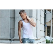 Фото Мужская майка бесшовная белая Cockon T-Shirt White w901